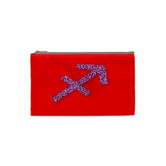 Illustrated Zodiac Star Red Purple Cosmetic Bag (small)  by Mariart