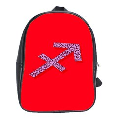 Illustrated Zodiac Star Red Purple School Bags(large)