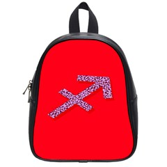 Illustrated Zodiac Star Red Purple School Bags (small)  by Mariart