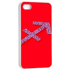 Illustrated Zodiac Star Red Purple Apple Iphone 4/4s Seamless Case (white) by Mariart