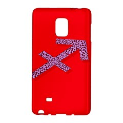 Illustrated Zodiac Star Red Purple Galaxy Note Edge by Mariart