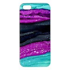 Green Pink Purple Black Stone Iphone 5s/ Se Premium Hardshell Case by Mariart