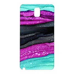 Green Pink Purple Black Stone Samsung Galaxy Note 3 N9005 Hardshell Back Case by Mariart