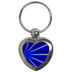 Light Neon Blue Key Chains (heart)  by Mariart