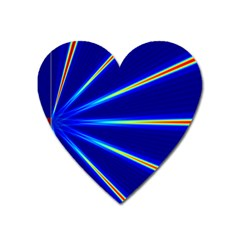 Light Neon Blue Heart Magnet by Mariart
