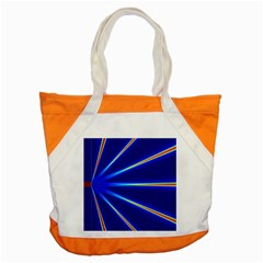 Light Neon Blue Accent Tote Bag by Mariart