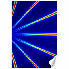 Light Neon Blue Canvas 24  X 36  by Mariart