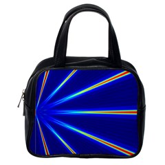 Light Neon Blue Classic Handbags (one Side) by Mariart