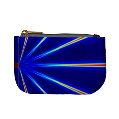 Light Neon Blue Mini Coin Purses by Mariart