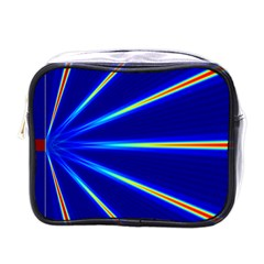 Light Neon Blue Mini Toiletries Bags by Mariart