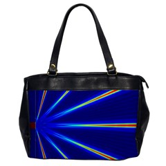 Light Neon Blue Office Handbags by Mariart