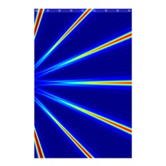 Light Neon Blue Shower Curtain 48  X 72  (small)  by Mariart