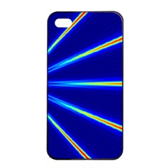 Light Neon Blue Apple Iphone 4/4s Seamless Case (black) by Mariart