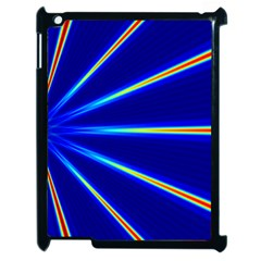 Light Neon Blue Apple Ipad 2 Case (black) by Mariart