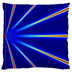 Light Neon Blue Large Cushion Case (two Sides) by Mariart
