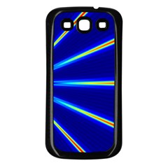 Light Neon Blue Samsung Galaxy S3 Back Case (black) by Mariart
