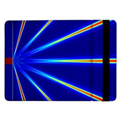 Light Neon Blue Samsung Galaxy Tab Pro 12 2  Flip Case by Mariart
