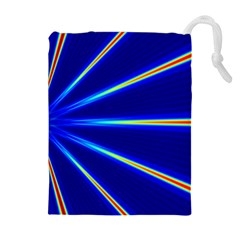 Light Neon Blue Drawstring Pouches (extra Large) by Mariart