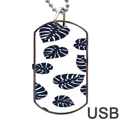 Leaf Summer Tech Dog Tag Usb Flash (two Sides) by Mariart