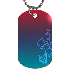 Love Valentine Kiss Purple Red Blue Romantic Dog Tag (two Sides) by Mariart