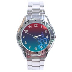 Love Valentine Kiss Purple Red Blue Romantic Stainless Steel Analogue Watch by Mariart