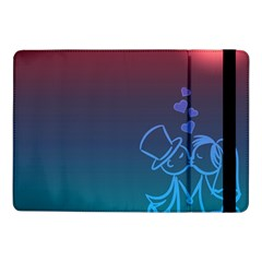 Love Valentine Kiss Purple Red Blue Romantic Samsung Galaxy Tab Pro 10 1  Flip Case by Mariart