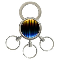 Light Orange Blue 3 Ring Key Chains by Mariart