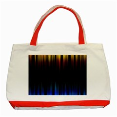 Light Orange Blue Classic Tote Bag (red) by Mariart