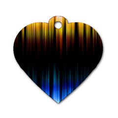 Light Orange Blue Dog Tag Heart (one Side) by Mariart