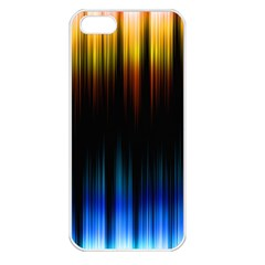 Light Orange Blue Apple Iphone 5 Seamless Case (white) by Mariart
