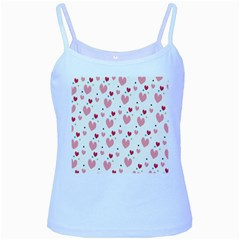 Love Heart Pink Polka Valentine Red Black Green White Baby Blue Spaghetti Tank by Mariart