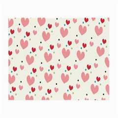 Love Heart Pink Polka Valentine Red Black Green White Small Glasses Cloth by Mariart