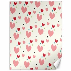 Love Heart Pink Polka Valentine Red Black Green White Canvas 36  X 48   by Mariart