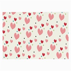 Love Heart Pink Polka Valentine Red Black Green White Large Glasses Cloth by Mariart