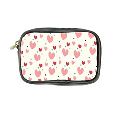 Love Heart Pink Polka Valentine Red Black Green White Coin Purse by Mariart