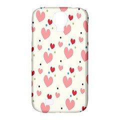 Love Heart Pink Polka Valentine Red Black Green White Samsung Galaxy S4 Classic Hardshell Case (pc+silicone) by Mariart