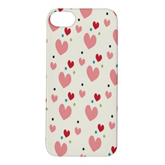 Love Heart Pink Polka Valentine Red Black Green White Apple Iphone 5s/ Se Hardshell Case by Mariart