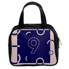 Number 9 Blue Pink Circle Polka Classic Handbags (2 Sides) by Mariart