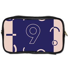 Number 9 Blue Pink Circle Polka Toiletries Bags 2 Side by Mariart