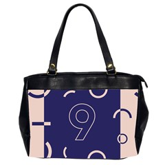Number 9 Blue Pink Circle Polka Office Handbags (2 Sides)  by Mariart
