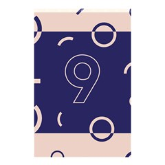Number 9 Blue Pink Circle Polka Shower Curtain 48  X 72  (small)  by Mariart