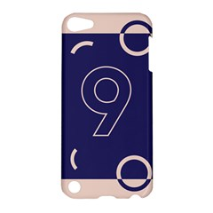 Number 9 Blue Pink Circle Polka Apple Ipod Touch 5 Hardshell Case by Mariart
