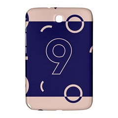 Number 9 Blue Pink Circle Polka Samsung Galaxy Note 8 0 N5100 Hardshell Case  by Mariart