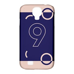 Number 9 Blue Pink Circle Polka Samsung Galaxy S4 Classic Hardshell Case (pc+silicone) by Mariart