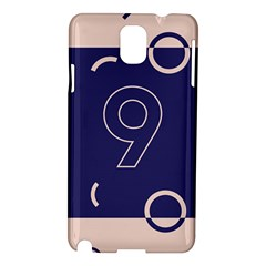 Number 9 Blue Pink Circle Polka Samsung Galaxy Note 3 N9005 Hardshell Case by Mariart