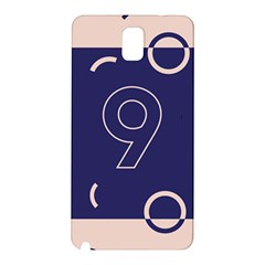 Number 9 Blue Pink Circle Polka Samsung Galaxy Note 3 N9005 Hardshell Back Case by Mariart