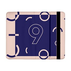 Number 9 Blue Pink Circle Polka Samsung Galaxy Tab Pro 8 4  Flip Case by Mariart