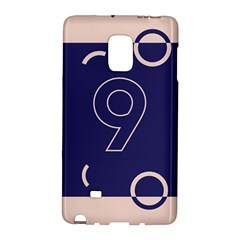 Number 9 Blue Pink Circle Polka Galaxy Note Edge by Mariart