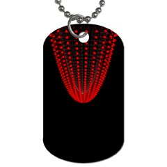 Normal Field Of An Elliptic Paraboloid Red Dog Tag (two Sides) by Mariart