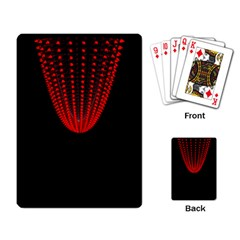 Normal Field Of An Elliptic Paraboloid Red Playing Card by Mariart